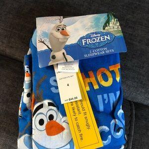 Frozen boys 4 pieces cotton pajamas set